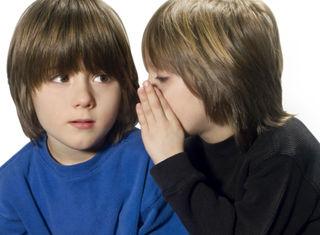Boys Sharing Secret