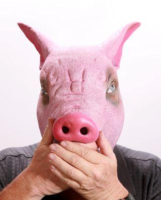 Man Hog Head