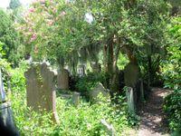 Church Headstones many