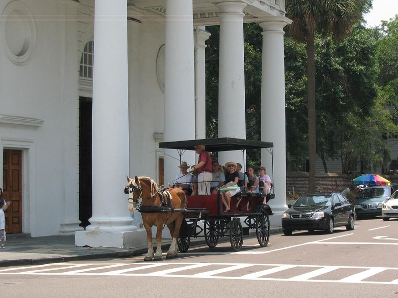 Horse Taxi on Broad