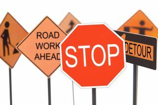 Highway detour