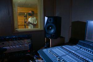Man studio mic