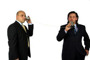 Tin can phone men