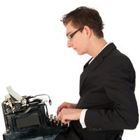 Man Typewriter