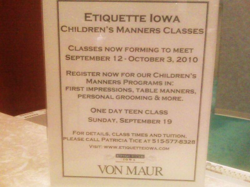 Von Maur Class