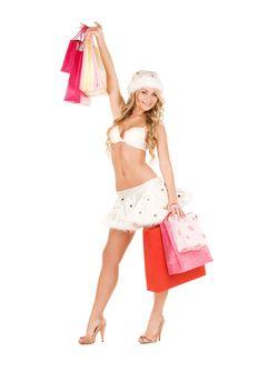 Woman Santa Helper