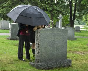 Cemetary two people