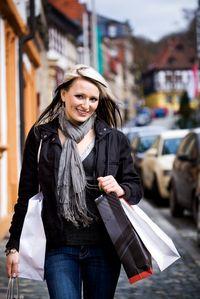 Woman Shopping City