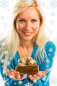 Woman christmas gift