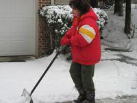 Georgie First Snow Shovel Dec 24 2010