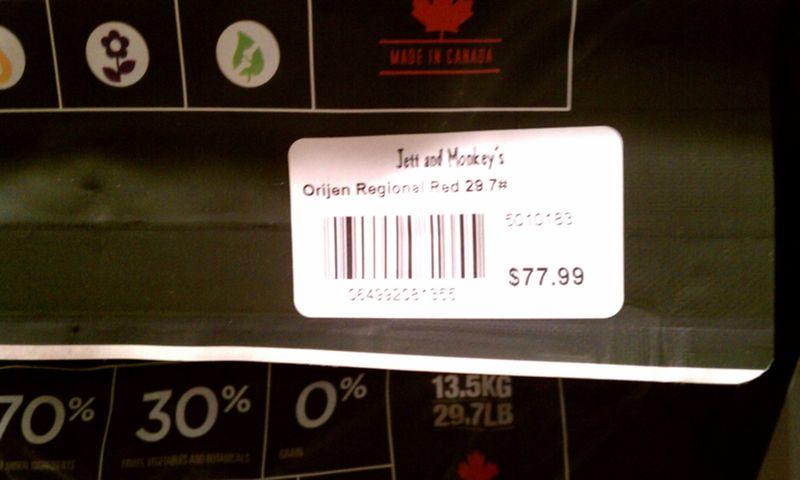 Orijin Dog Food Price