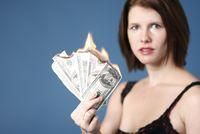 Woman Burning Money