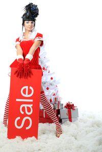 Woman Sale Santa