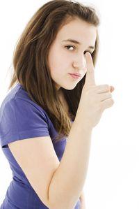 Teen female angry