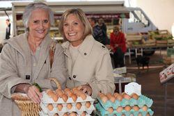 Woman organic eggs