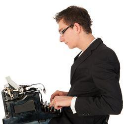 Man Typewriter