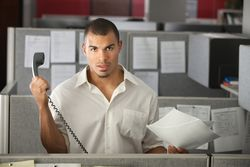 Man Telephone Office