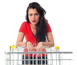 Woman Emply Cart