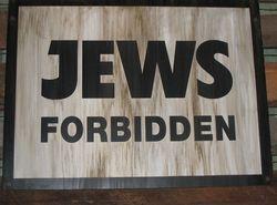 Jews Forbidden
