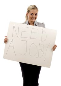 Woman Need a Job Happy