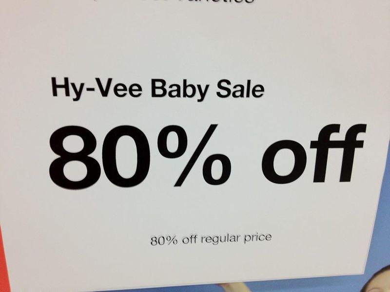 HyVee Baby Sale
