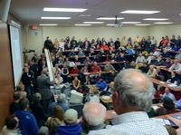 Valley HS Caucus Night Crowd