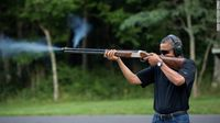 President Obama Skeet Shooting