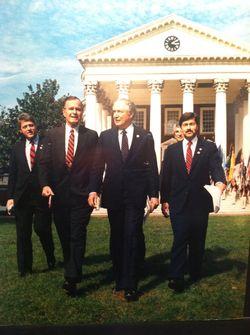 Clinton Bush Cavazos Branstad 1989