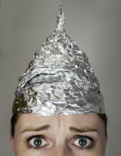 Woman Tin Hat
