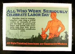 Labor Day Vintage Poster