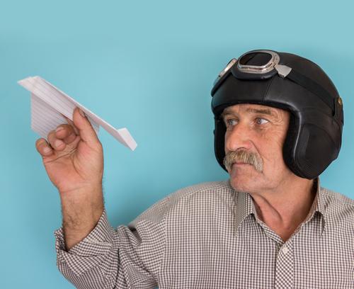 Man Paper Airplane