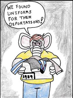 Tim Lloyd Uniforms Deportations 15 Nov 2015