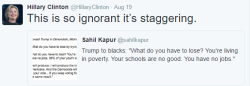 Clinton Tweet Ignorant Staggering