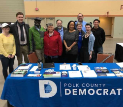 Polk Co Dems Table Jan 2018