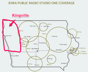 IPR AM Radio Coverage Kingville