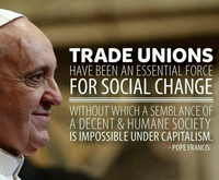 Pope Frances and Unions