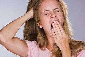 Woman Yawn