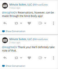 Minute Suites Twitter