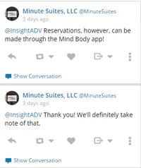 Minute Suites Twitter