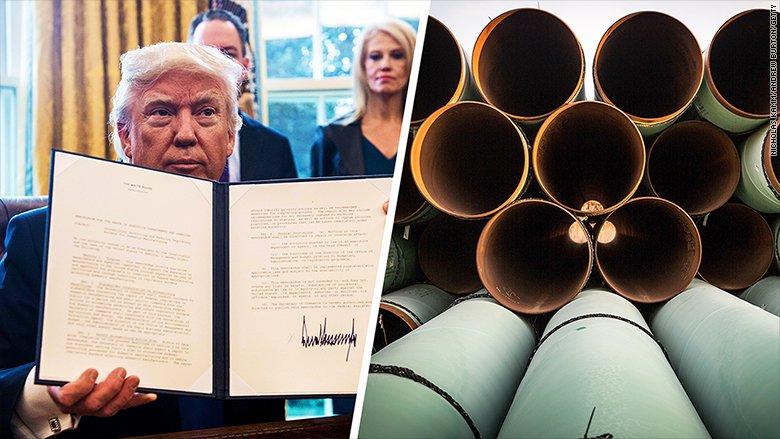 Trump Order Steel Pipeline CNN