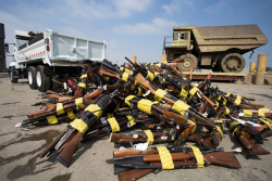 Guns Piled Up
