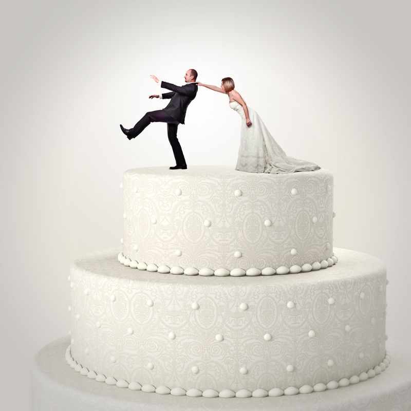 Man Woman Wedding Cake