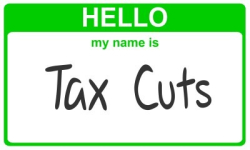 Tax Cuts Name Badge