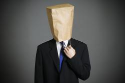 Man Bag on Head