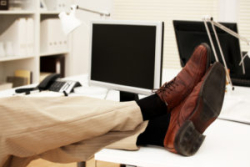 Man Feet on Desk