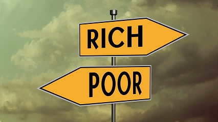 Rich Poor Sign