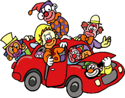 Clown-car