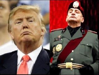 Trump Mussolini image