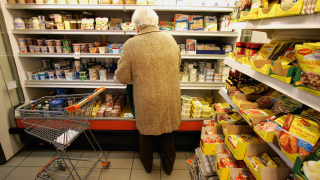 Older Woman Grocery Store