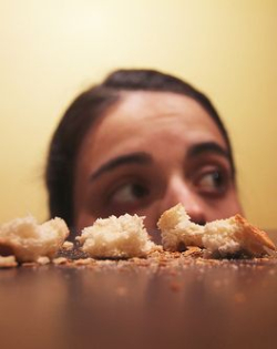 Woman Crumbs fromTable